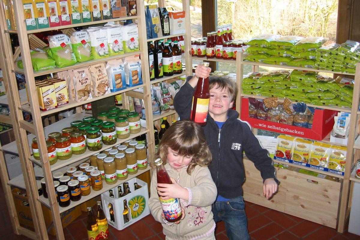 Bioladen - die Kinder finden es Toll