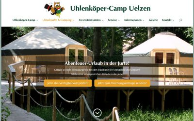 The Uhlenköper camp has a new homepage